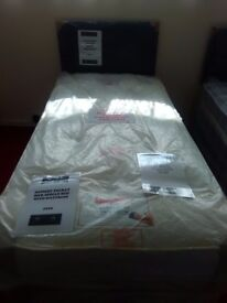 New Myer Adams Memory Pocket Silk Single Bed with Mattress.