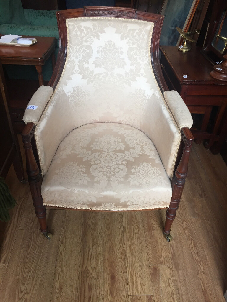 Armchair with lovely wooden legscovered in a light covered material,in good conditionin Trinity, EdinburghGumtree - Armchair with lovely wooden legs , covered in a light covered material,in good condition. feel free to view free local delivery