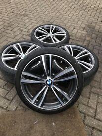 """4x BMW 422M Genuine Orbital Grey 19"""" Alloys with tyres!"""