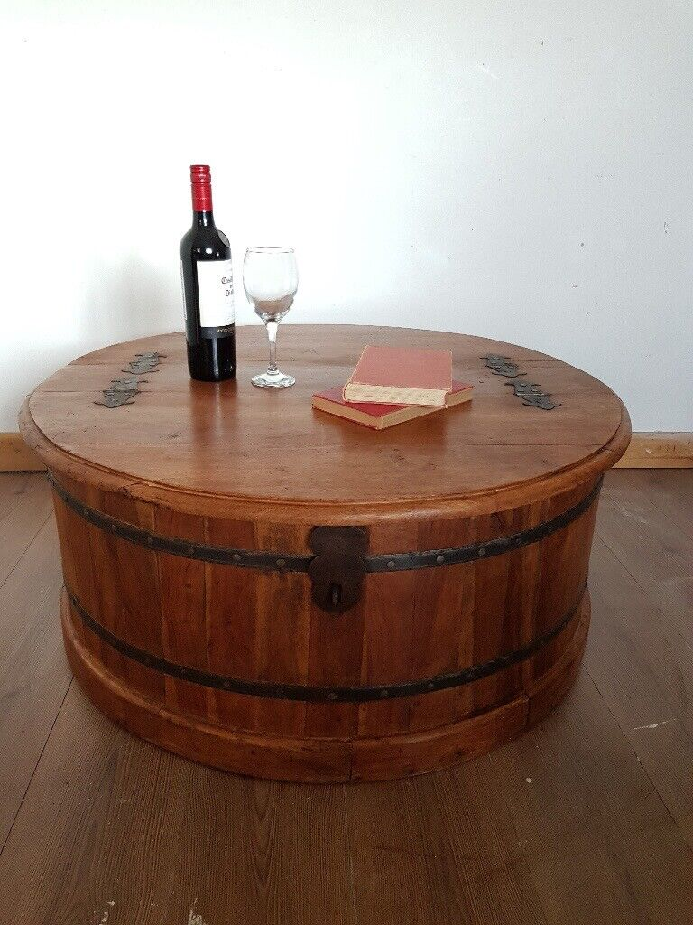 Large Rustic Wooden Barrel Storage Trunk Coffee Table Wine Chest Living Room Free Local Delivery In Hammersmith London Gumtree