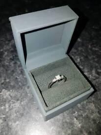 Beautiful platinum and diamond engagement ring