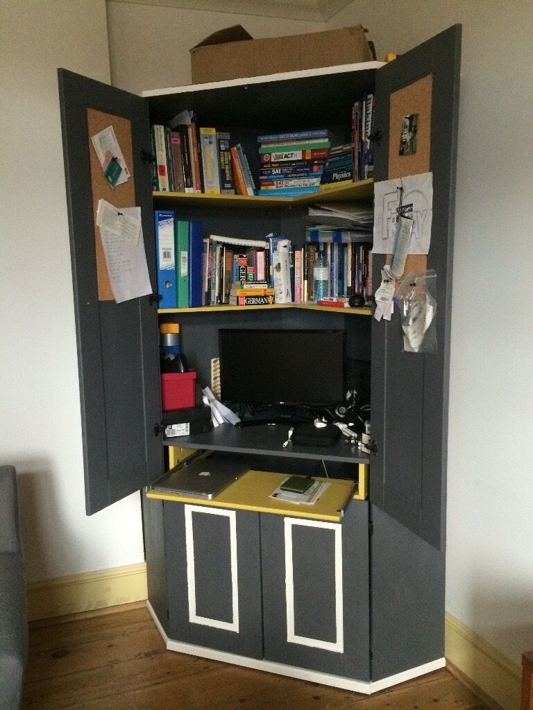 Painted Ikea Alve Corner Workstation Desk Cupboard 90 Ono