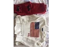 Ralph Lauren knitted jumper and trousers 3yr