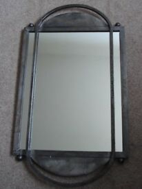 Lovely mirror with solid metal frame