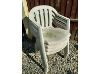 Used garden plastic chairs