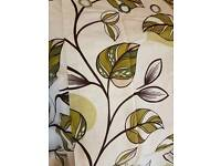 Curtains with leaf detail