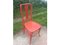 Upcycled, shabby chic, hardwood chair.