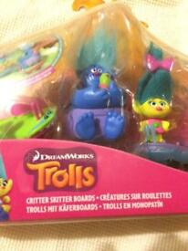 Trolls figures new in box