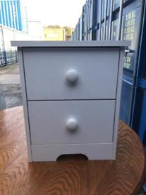 White 2 drawer bedside chest FREE DELIVERY PLYMOUTH AREA