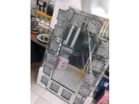 Crushed diamond mirror 120cm x 80cm
