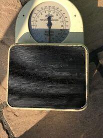 Vintage bathroom scales,