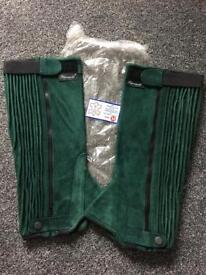 Adult leather chaps size M, NEW