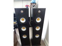 MONITOR AUDIO SILVER 8I FLOORSTANDING SPEAKERS IN BLACK