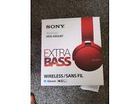 Sony XB650BT RED Bluetooth Wireless Headset Headphones