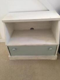Solid Wooden TV Unit Cupboard Drawers