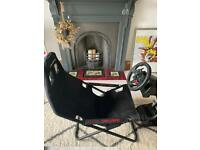 Playseat challenge with Logitech G29 wheel and pedals