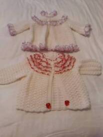 Baby girl knitted cardigans 0-5 months