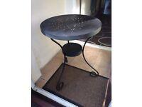 Ikea black metal side table