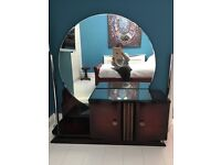 Antique Art Deco Dressing table and pair bedside cabinets of exceptional quality