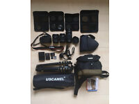 Canon 100D Bundle - Entry Level DSLR + 3 Lenses, tripod and extras - 10-18, 18-55 and 75-300