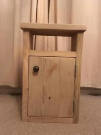 Solid chunky pine Bedside table