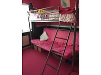 Bunk bed with sofa underneath that is used as a double bed. 3 years old. VGC
