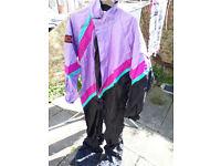 Ladies Sidi waterproof coloured/black motorcycle suit size 12