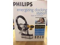 BRAND NEW PHILIPS HC8520 WIRELESS HEADPHONES (PC/TV/HI-FI CONNECTION)