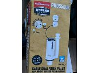 Fluid Master ProSeries PRO55OUK Cable Dual Flush Valve Top,Front or Side Push Button