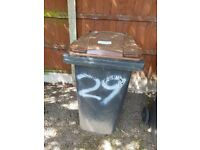 Large wheelie bins brown and black..free to collect