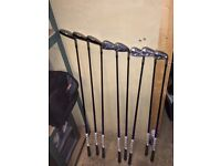 Adams a705 hybrid right handed irons graphite regular shaft. 3to sw plus driver & putter