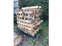 Thick beams of timber