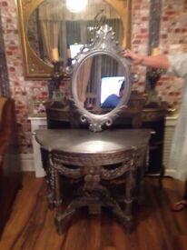 Console table mirror lush