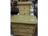 Beautiful Quality Matching large & small Chest of Drawers. Bedside. Very Country Cottage