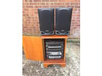 AIWA compact disc stereo system with speakers,delivery available