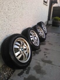 "BMW 16"" Alloy Rims with Winter Tyres - Ready to Use"