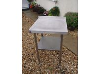 Stainless steel table 600mm x 600mm