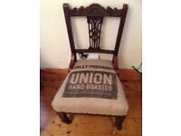 Quirky Genuine Antique upholstered Nursing Chair