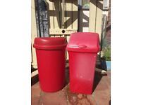 2 x 60 litre bin(s) in red