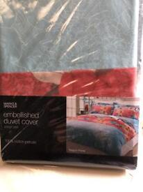 2 brand new single duvet cover from Mark and spencer