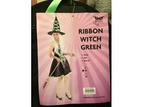 Halloween Witches Outfit - By Dress Fantasic - Ribbon Witch Green - Size Medium