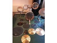 Pearl Drum Set Rhythm Traveler RTX705HCC, Pure White/Chrome !!!GREAT PRICE!!!