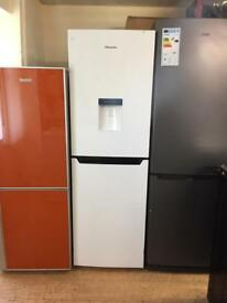 White fridge freezer with water dispenser
