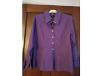 Ladies purple fitted shirt. Size 16.
