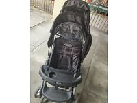 Double pushchair pram
