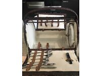 Picnic basket with plates , glasses cutlery wicker