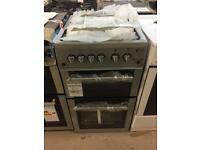 BRAND NEW FLAVEL 50CM SILVER GAS COOKER WITH OVEN GRILL