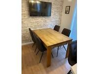 Barker And Stonehouse Dining Table and chairs + 2 x counter stools