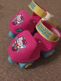 Hello kitty extendible roller skates