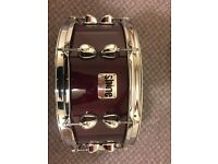 """Semi-rare Shine Definition Birch Series 14"""" Snare - Hardly Used with Protection Racket bag"""